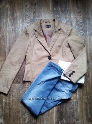 котоновый пиджак, бежевый