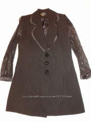 Удлиненный черный пиджак