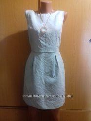 Фирменное модное платье куколка Atmosphere 3D узор цвет мята
