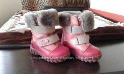 Ботинки зимние кожа натуральный мех Котофей