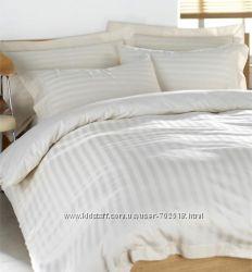 Постельное белье Сатин Страйп Белый. Отличное качество ткани. Шьем сами