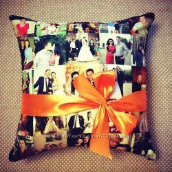 Фото на подушке Коллаж из ваших фото. Подушка с фото