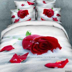 Постельное Сатин 3D LOVE YOU элитное постельное белье