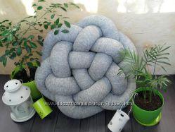 Подушка-узел, акцент в интерьере, декоративная подушка, диванная подушка