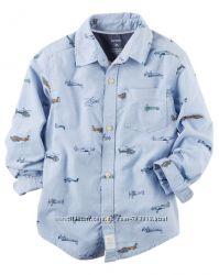 Рубашки Carters 2T, 3Т, 4Т