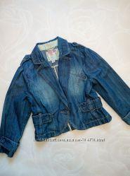 Стильный джинсовый пиджак на девочку 8-10 лет на р. 134-140 Next