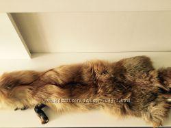шкура лисы большая пушистая