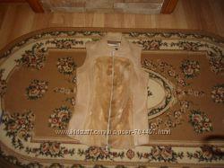 Безрукавка жилетка кожа с мехом