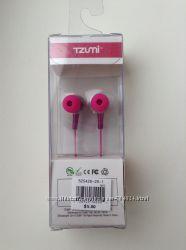 Наушники TZUMI Pink Iphone Stereo Hi-Fi Ear Bud - новые, USA
