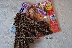 Леопардовые женские перчатки , отл. сост