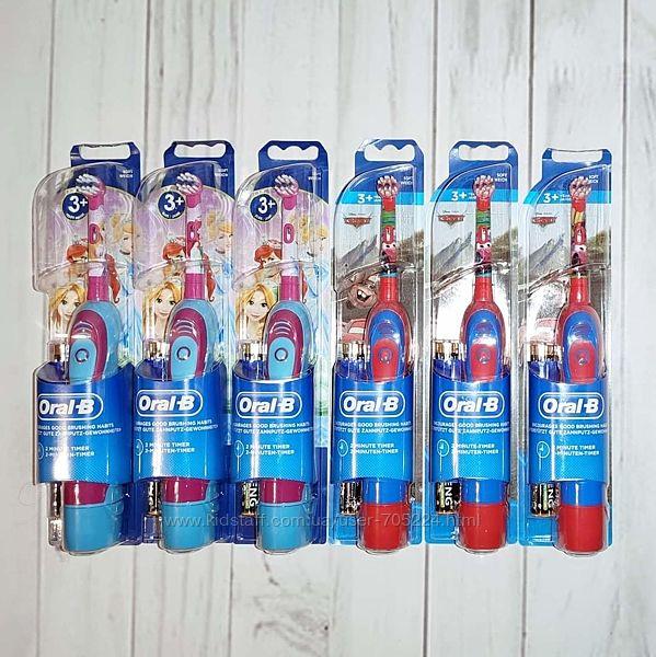 Электрические щётки Oral-B braun с принцессами и тачками.