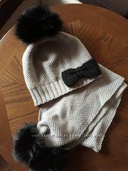 шикарный комплект шапка и шарф
