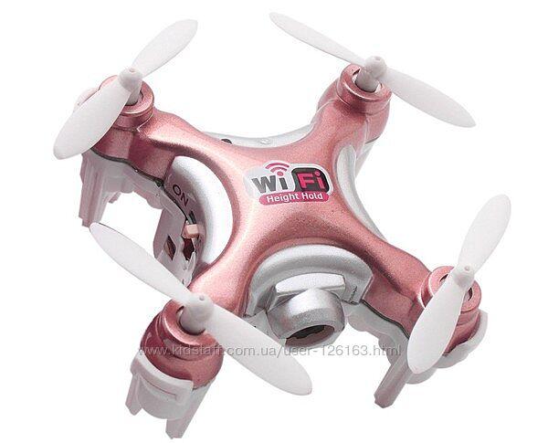 Квадрокоптер нано р/у Cheerson CX-10WD-TX с камерой Wi-Fi розовый