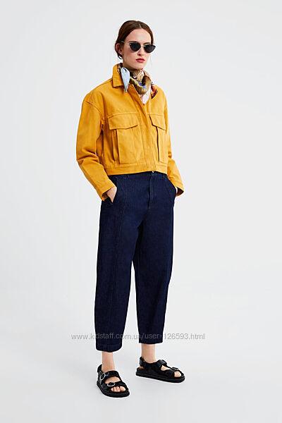 Укороченная джинсовая куртка zara, р. xs