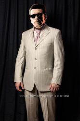Мужской костюм Kezman р. 46 пиджак брюки галстук