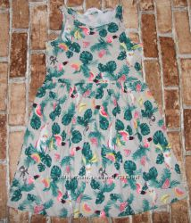 хлопковое платье сарафан девочке новое  4 - 10 лет H&M яркие летние