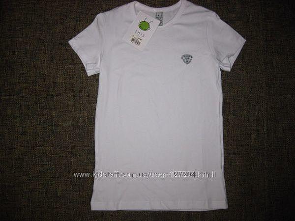 Smil белая футболка на ф-ру 158р