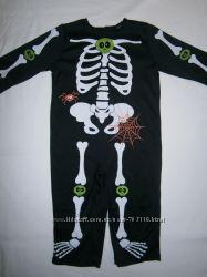 костюм скелетика с паучками Tu на 9-12 месяцев и на 1-2 года