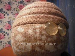 Зимняя шапка  шарф для девочки