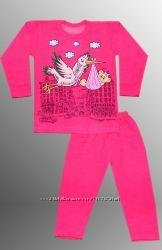 Теплые детские пижамы на 4-5 и 5-6 лет