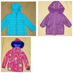 Теплая демисезонная куртка, еврозима M&S на 1-4 года