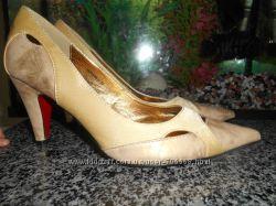 Туфли blossem золотые новые 37р.