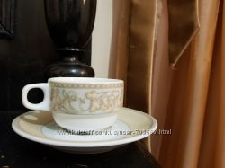 Кофейные чашки 90 мл. с блюдцами Porland