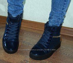 Высокие криперы зимние стильные Качество Ботинки