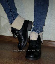 Стильные ботинки полусапожки на овчине Польша Качество