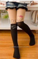 Колготки ботфорды с китти Hello Kitty в наличии