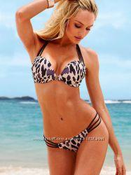 Сексуальный леопардовый купальник  Victorias Secret с двойным пуш-ап