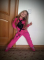 В наличии Оригинальные розовые спортивные костюмы на девочку со стразами
