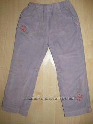 Продам теплые, на флисе брюки для девочки р-р104 3-4года. Оранжевый верблюд