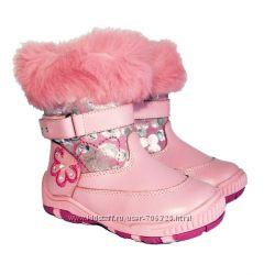 Распродажа. Зимние сапожки для девочек Little Deer. Р24-27