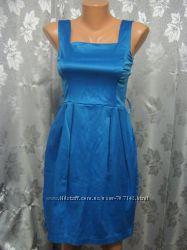 Платье футляр синего цвета