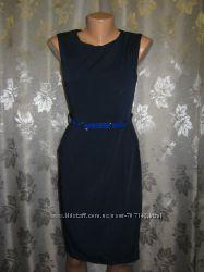 Платье темно синее с синим поясом новое