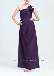 Платье вечернее фиолетового цвета атлас из США