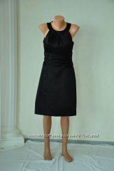 Платье коктейльное черное атлас из США