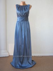 Платье вечернее голубого цвета из США