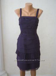 Коктейльное шифоновое платье от Vera Wang оригинал