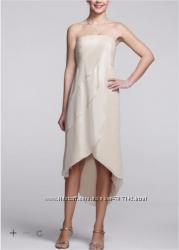 Платье коктейльное цвет айвори из США