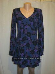 Платье George сине фиолетовое с длинным рукавом