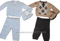Новые вязаные костюмы DYLAN&ABBY 6-9мес 74см, FIRST IMPRESSIONS 12 мес