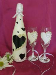 Свадебный набор шампанское, бокалы