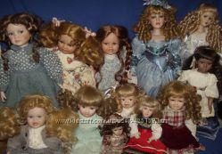 Фарфоровые куклы и клоуны, фарфоровая кукла, фарфоровый клоун