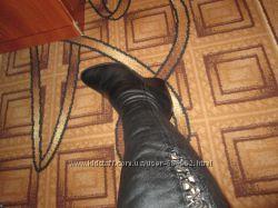 зимние кожаные сапоги 36 размер снизила цену 399грн Возможен торг