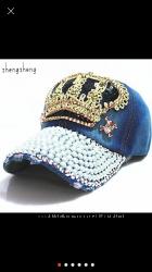 Джинсовая кепка корона