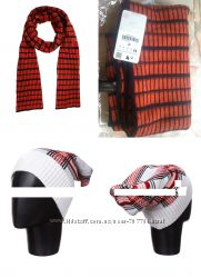 Шарф-Zara, яркий, большой, красивый, мягкий. 280х38 см, Шапка бренд Pull &