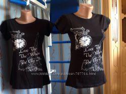 футболка с оригинальным принтом, Турция, 100 коттон, разм. S, M, L