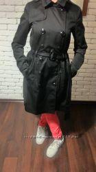 Плащ женский фирменный тренч черный коттоновый   H&M